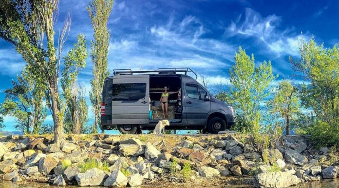 Road trip in Sprinter Van, vanlife to the fullest